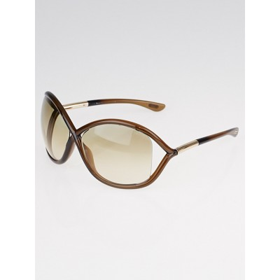 Tom Ford Brown Frame Gradient Tint Whitney Sunglasses
