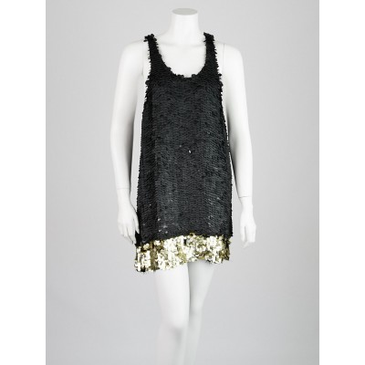3.1 Phillip Lim Grey Sequin Mini Dress Size 6
