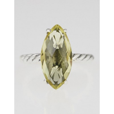 David Yurman 18x8mm Lemon Citrine Color Classics Ring Size 5.75