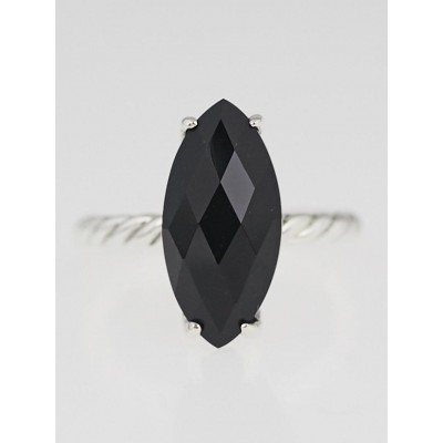 David Yurman 18x8mm Black Onyx Color Classics Ring Size 6
