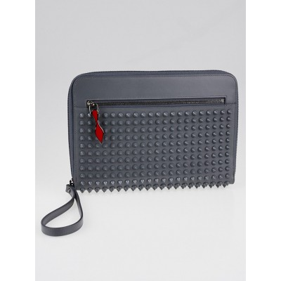 Christian Louboutin Grey Leather Cris Spike iPad Mini Case