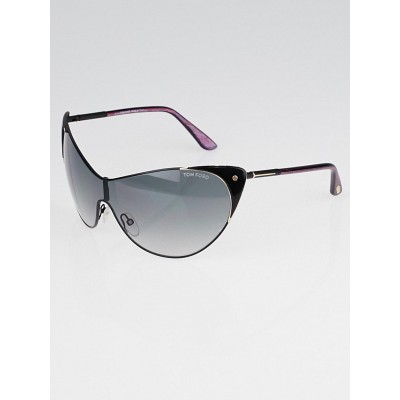 Tom Ford Black Cat Eye Frame Gradient Tint Sunglasses