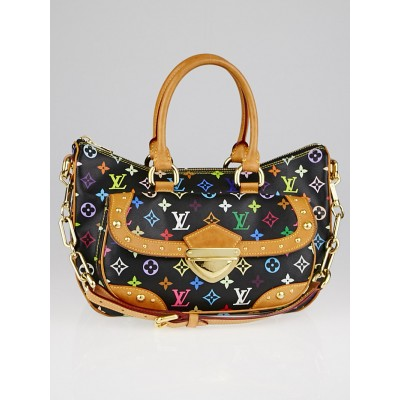 This Louis Vuitton Black Monogram Multicolor Rita Bag