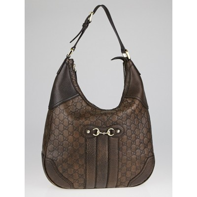 Gucci Brown Guccissima Leather Catherine Hobo Bag