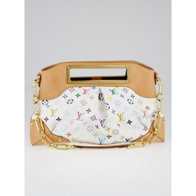 Louis Vuitton White Monogram Multicolore Judy GM Bag