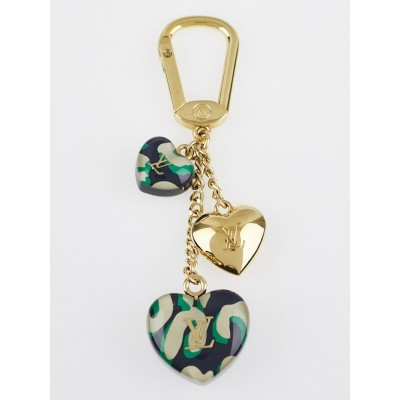 Louis Vuitton Bleu Infini Leopard Stephen Sprouse Heart Couer Key Holder and Bag Charm