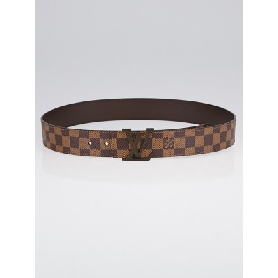 Louis Vuitton Damier Canvas LV Initiales Belt Size 90/36