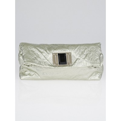 Louis Vuitton Limited Edition Limelight Argent Monogram Jacquard Pochette Altair Clutch Bag