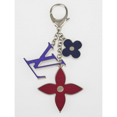 Louis Vuitton Figue/Fuchsia/Indigo Fleur d'Epi Key Holder and Bag Charm