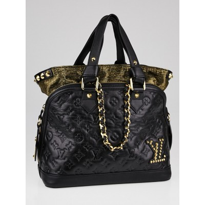 Louis Vuitton Limited Edition Black Monogram Double Jeu Neo-Alma Bag