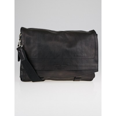 Proenza Schouler Black Buffalo Leather Smith Messenger Bag