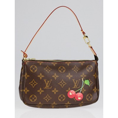 Louis Vuitton Limited Edition Monogram Cerises Canvas Accessories Pochette Bag