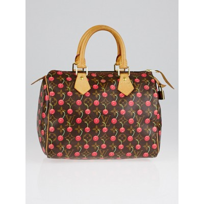 Louis Vuitton Limited Edition Monogram Cerises Speedy 25 Bag