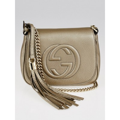 Gucci Gold Leather Soho Chain Shoulder Bag