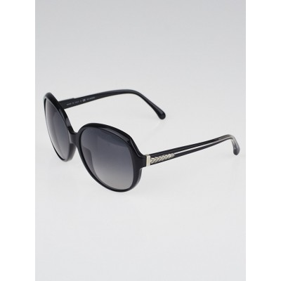 Chanel Black Oversized Acetate Frame Sunglasses-5196