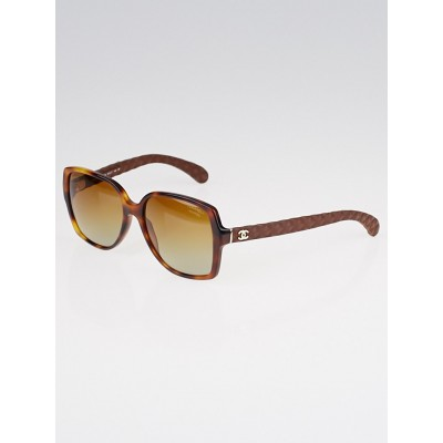 Chanel Tortoise Shell Frame Square Sunglasses 5289Q