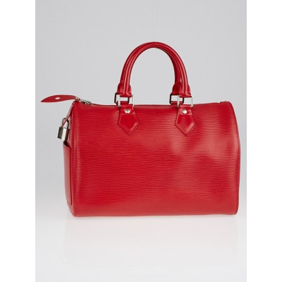 Louis Vuitton Red Epi Leather Speedy 30 Bag