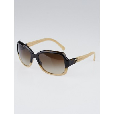 Chanel Black/Beige Square Frame CC Logo Sunglasses-5177