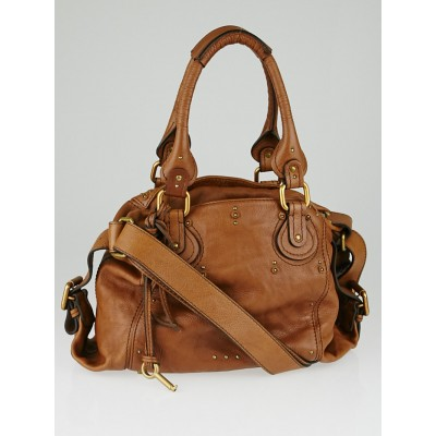 Chloe Tan Leather Paddington Tote Bag