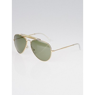 Celine Goldtone Metal Aviator Sunglasses SC1490