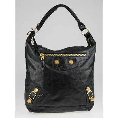 Discount Balenciaga Black Lambskin Leather Giant 21 Gold Day Bag Outlet London