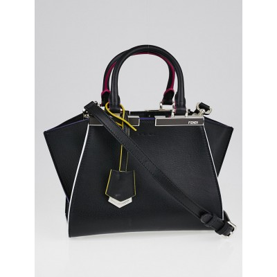 Fendi Black Leather Mini 3Jours Bag 8BH333