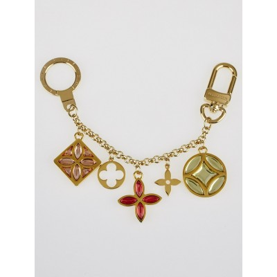 Louis Vuitton Fleur de Monogram Chain Key Holder and Bag Charm