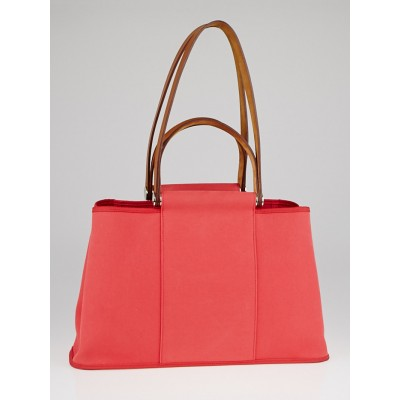 Hermes Bougainvillea Canvas Cabag Elan Tote Bag