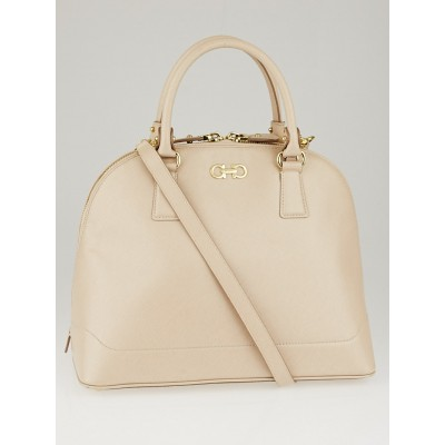 Salvatore Ferragamo New Bisque Saffiano Leather Darina Bag