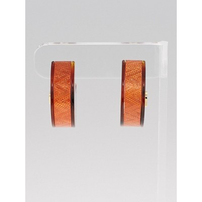 Louis Vuitton Orange Resin Circus Signature Earrings