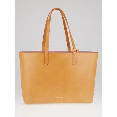 Mansur Gavriel Cammello/Antico Vegetable Tanned Leather Small Tote Bag