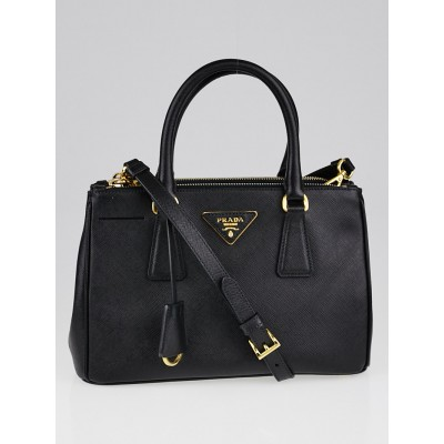 Prada Black Saffiano Lux Leather Mini Tote Bag BN2316