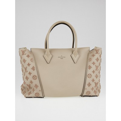 Louis Vuitton Beige Galet Veau Cachemire Calfskin Leather W PM Bag