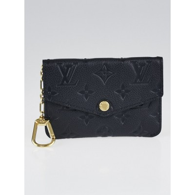 Louis Vuitton Black Monogram Empreinte Leather Pochette Cles and Key Holder