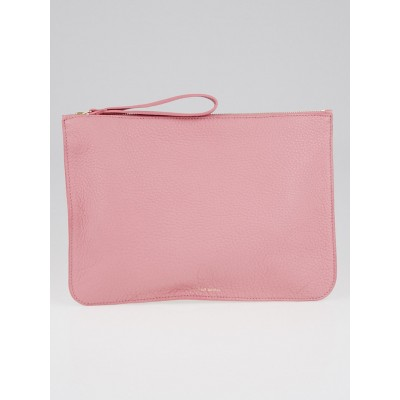 Mansur Gavriel Peony Tumbled Leather Large Wallet Pouch