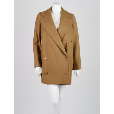 Stella McCartney Beige Camel Wool Edith Coat Size 6/40