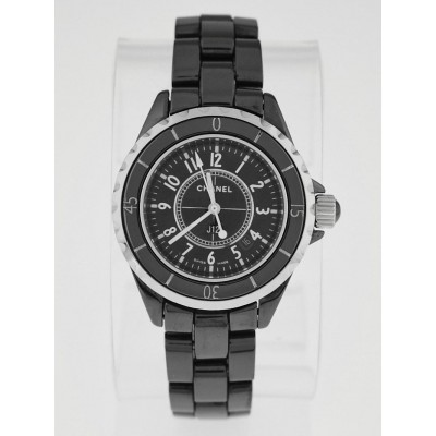 Chanel Black J12 Ceramic 33mm Swiss Quartz Watch