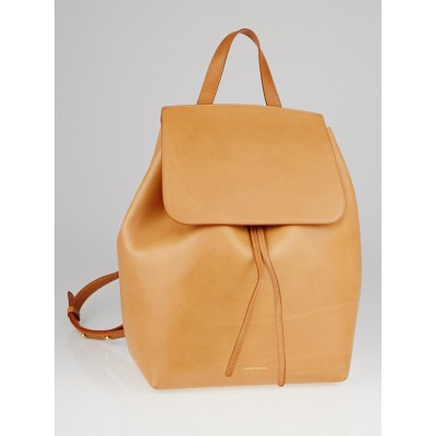 Mansur Gavriel Cammello/Rose Vegetable Tanned Leather Backpack Bag
