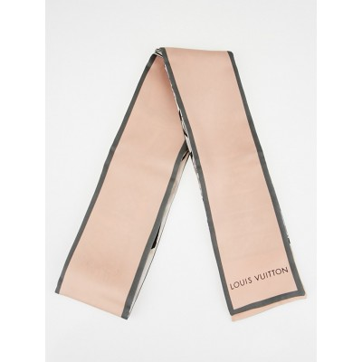 Louis Vuitton Pink/Grey Silk Bandeau Scarf