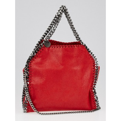 Stella McCartney Cherry Red Shaggy Dear Faux Leather Mini Falabella Bag
