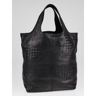 Bottega Veneta Black Leather Regent Tote Bag