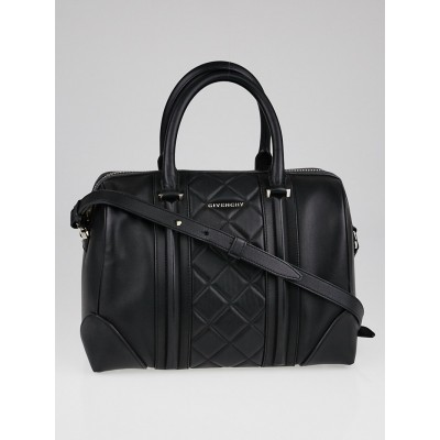 Givenchy Black Quilted Leather Medium Lucrezia Duffle Bag