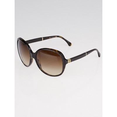 Chanel Tortoise Shell Oversized Quilted CC Sunglasses- 5232-Q
