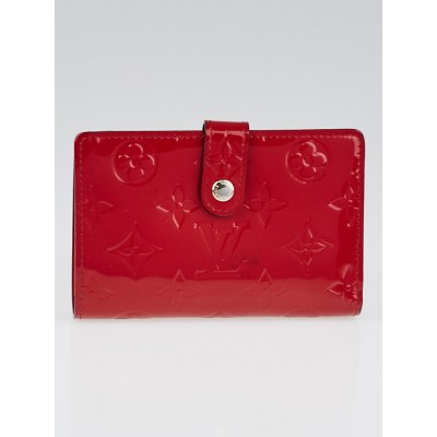 Louis Vuitton Cerise Florentine Monogram Vernis Port Feuille Vienoise French Purse NM Wallet