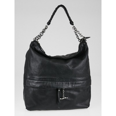 Christian Louboutin Black Leather Medium Hobo Bag