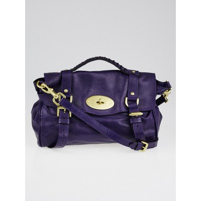 Mulberry Grape Soft Buffalo Leather Alexa Bag