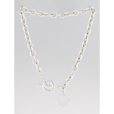Tiffany & Co. Sterling Silver Tiffany Heart Tag Toggle Necklace