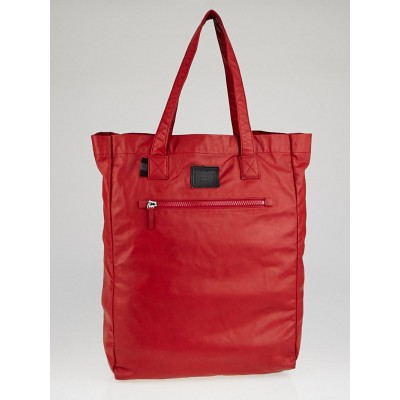 Gucci Red Leather Viaggio Tote Bag