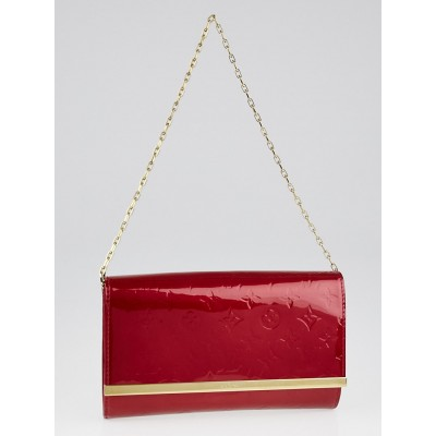 Louis Vuitton Pomme D'Amour Monogram Vernis Ana Clutch Bag