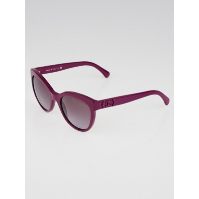 Chanel Fuchsia Frame Tinted Retro Sunglasses-5315